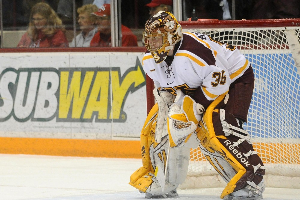 Gophers senior Kent Patterson was named the WCHA Goaltending Champion this week after posting a 2.06 goals against average in the regular season.