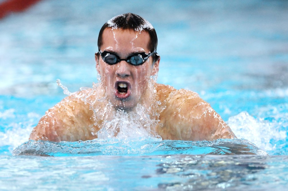 Sophomore Kyler Van Swol will compete at the NCAA championships for the second time. He will swim the 100- and 200-meter butterfly.