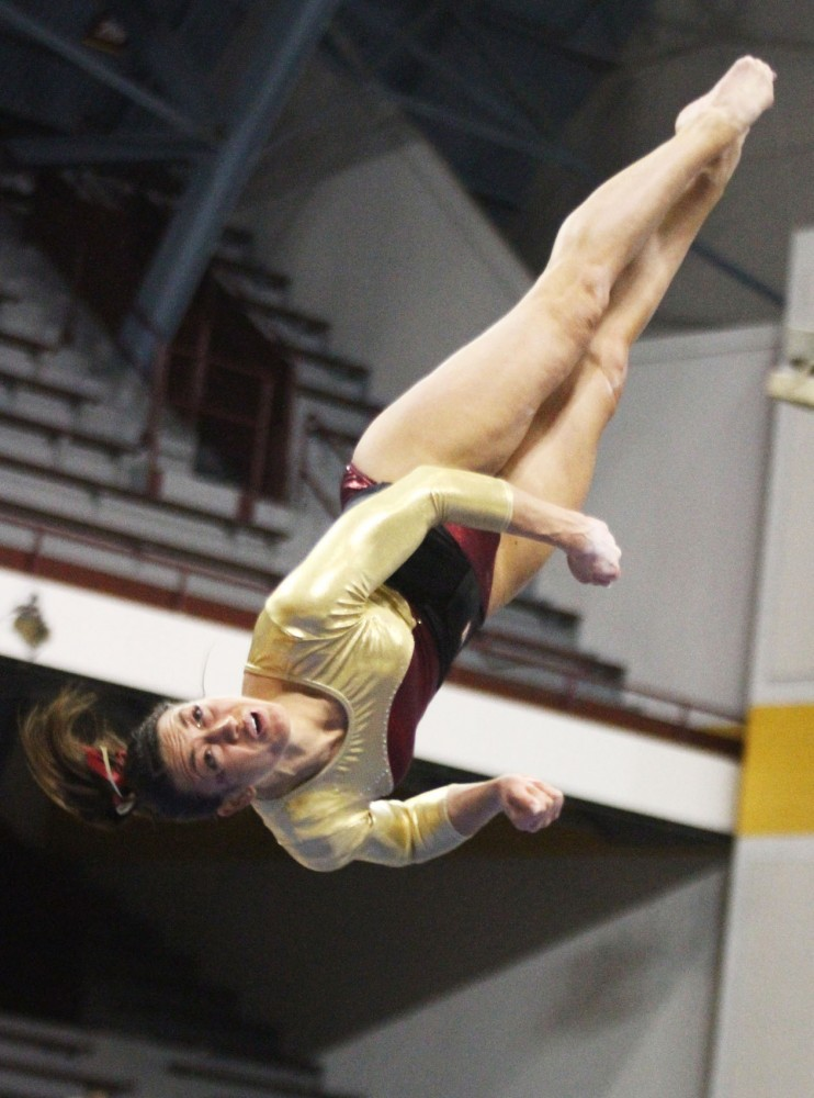 Amber Hammerschmidt runs her routine on Jan. 18, 2012 at the Sports Pavilion.