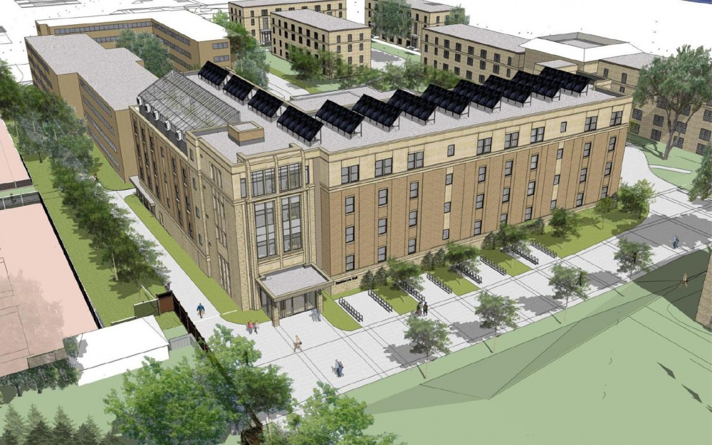 University of Wisconsin-Madison's new residence hall will include a green house where students can learn about sustainable agriculture.