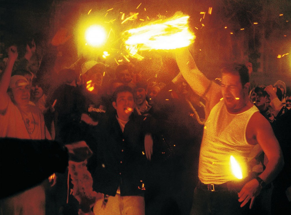 After the Gophers won the NCAA Men's Ice Hockey Championship on April 6, 2002, rioters overturned cars, started fires and looted stores.