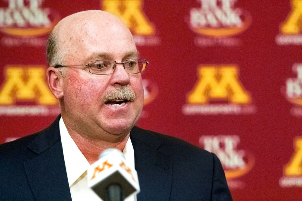 Minnesota football head coach Jerry Kill, quarterback MarQueis Gray, and University of Minnesota Athletics Director Joel Maturi gave responses to the death of linebacker Gary Tinsley at a press conference Friday at the Gibson-Nagurski Football Complex.