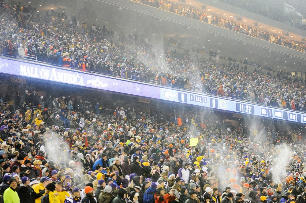 Vikings fans pack TCF Bank Stadium for their game against the Chicago Bears on Dec. 20 2010.  The Vikings will likely play ay least one season at TCF while the new stadium is built on the Metrodome site.