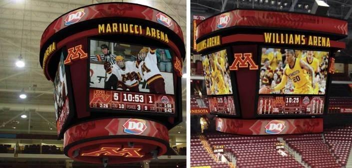 The University of Minnesota's Williams and Mariucci Arenas are getting $8 million in scoreboard updates. Source: University of Minnesota
