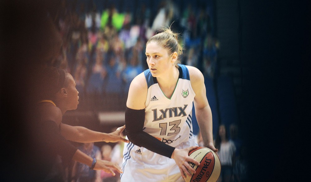 Minnesota Lynx guard Lindsay Whalen plays against the Tulsa Shock on July 12 at the Target Center. Whalen, a former Gophers player, will compete in her first Olympics in London.