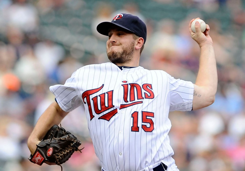 Glen Perkins pitches during the last inning against Detroit Tiger on Sept. 30 at Target Field. Perkins has been playing 7 years for Twins after playing 2 years for Minnesota.