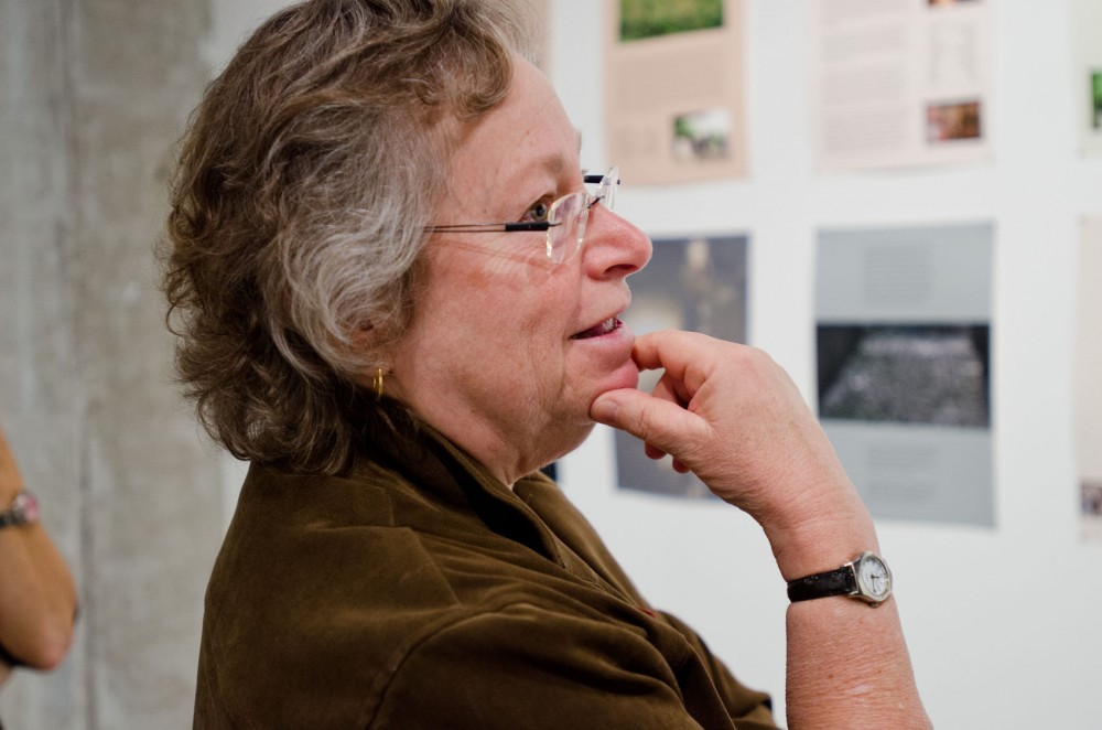 """Joyce Lyon, co-curator of the """"shadows traces undercurrents"""" exhibit and a University associate professor, reflects on her work."""