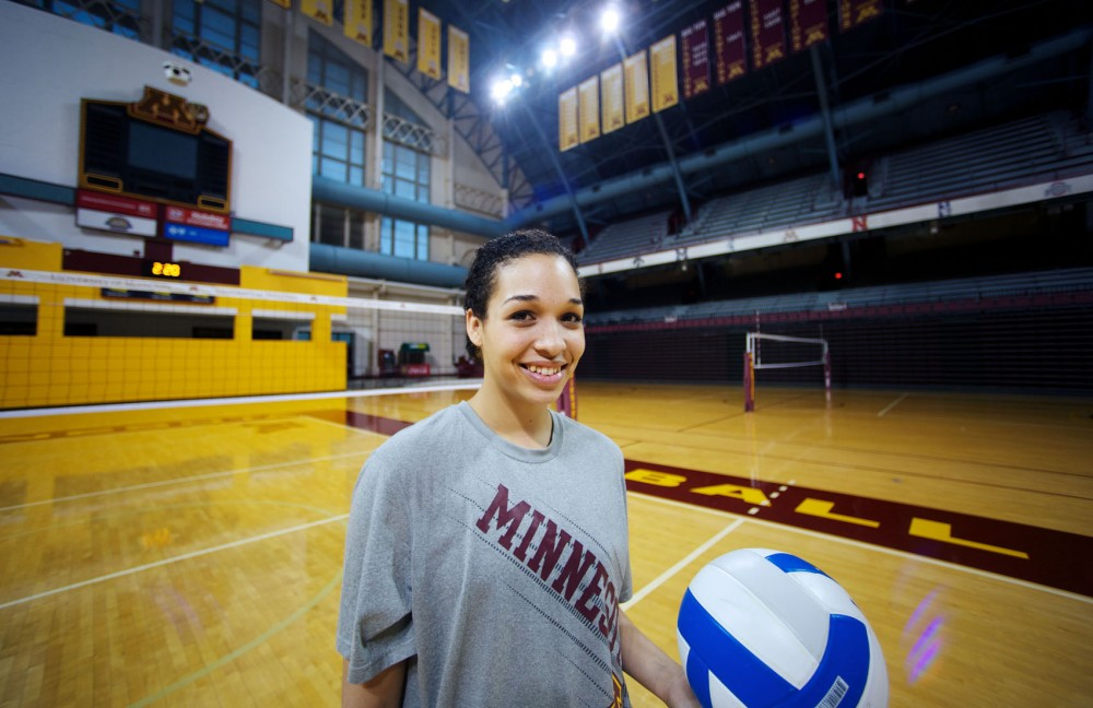 Daly Santana joined the Gophers three months ago from Puerto Rico. Santana, a freshman, has already emerged as one of the team's strongest players.
