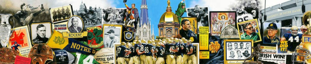 Tim Cortes's created the above colored-pencil drawing this year to commemorate Notre Dame football's 125th anniversary.