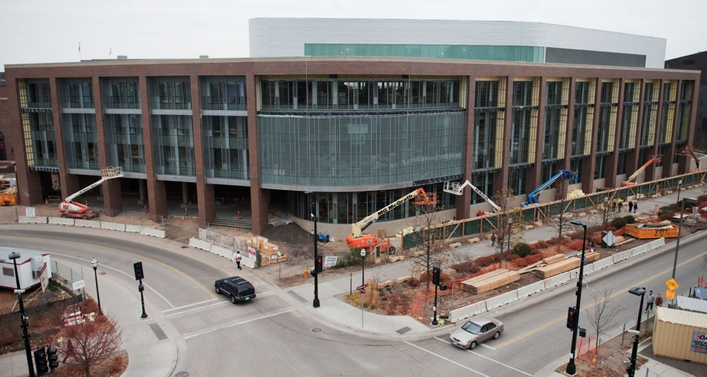 The University Recreation Center expansion is under construction and is set to formally open fall 2013.