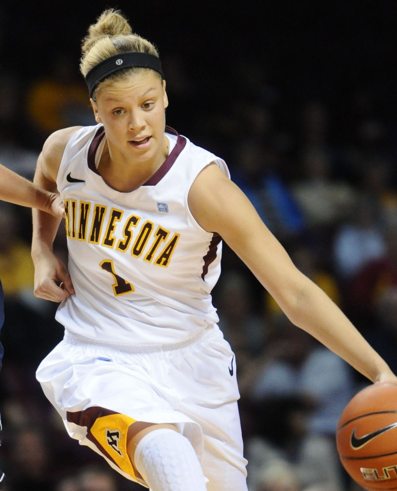 Minnesota guard Rachel Banham plays against Villanova on Nov. 11, 2012 at Williams Arena.