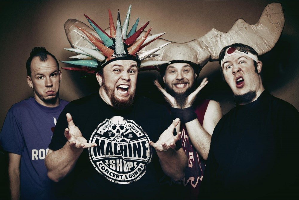 How Psychostick's hats stay on while performing is a mystery for fans.