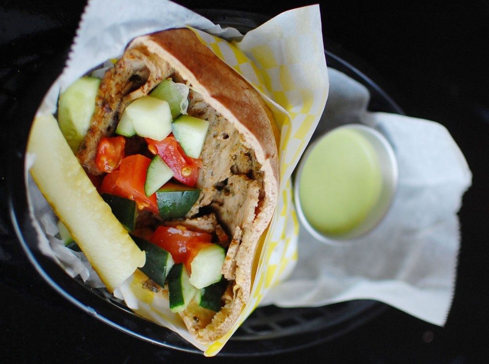 The chicken gyro at the Foxy Falafel on Raymond Avenue in St. Paul.