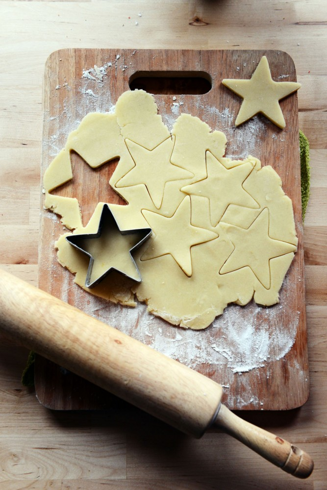 Making sugar cookies is simple, and cookies can be cut out in various ways to celebrate the holidays.