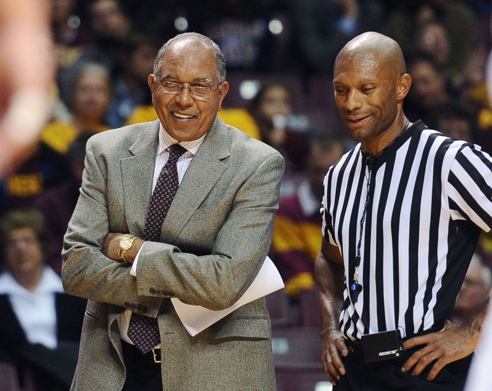 Minnesota head coach Tubby Smith watches his team play against Minnesota State-Mankato on Nov. 1 at Williams Arena.