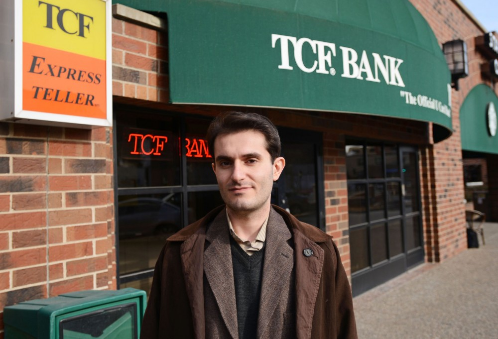 Graduate student Alireza Asary was one of several Iranian University of Minnesota students notified in December 2012 by TCF Bank that their accounts would be closed. The University is currently working to help resolve eight cases.