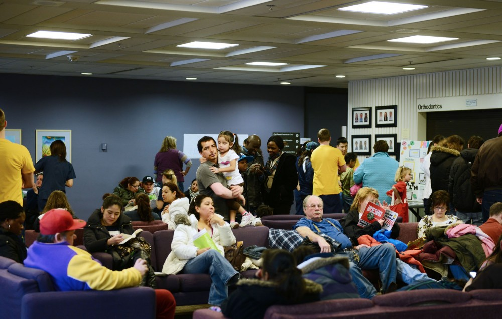 More than 200 children showed up for Give Kids a Smile Day on Saturday, Feb. 2, 2013, at Moos Tower.