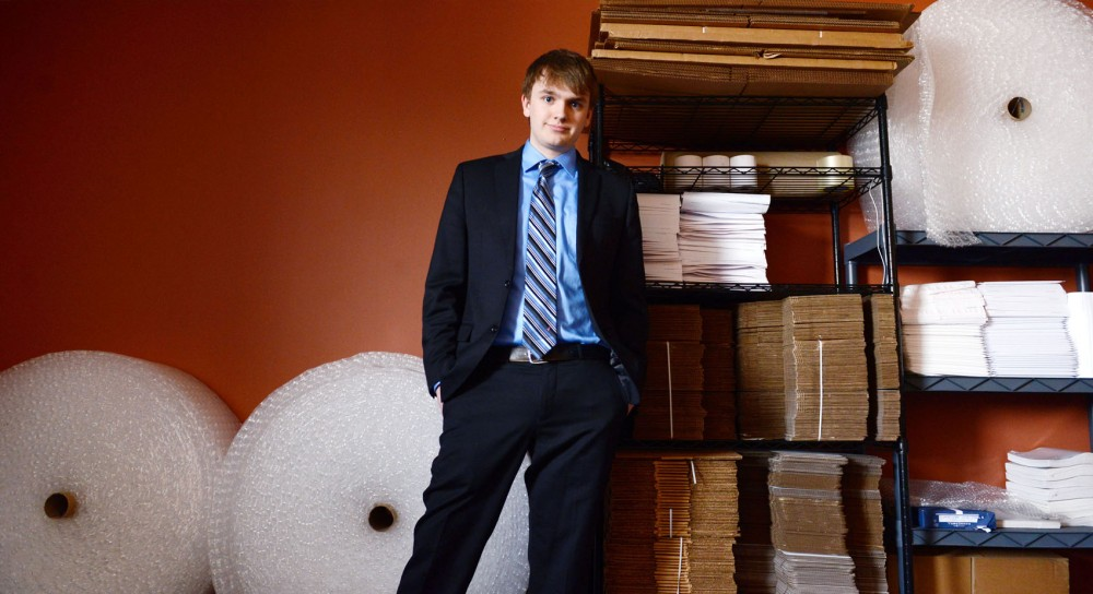 University freshman Austin White-Pentony founded Get Smarter Solutions, a company that buys and sells used cellphones, tablets and laptops. White-Pentony uses his office to store and package all of his products, which are then mailed to online customers.