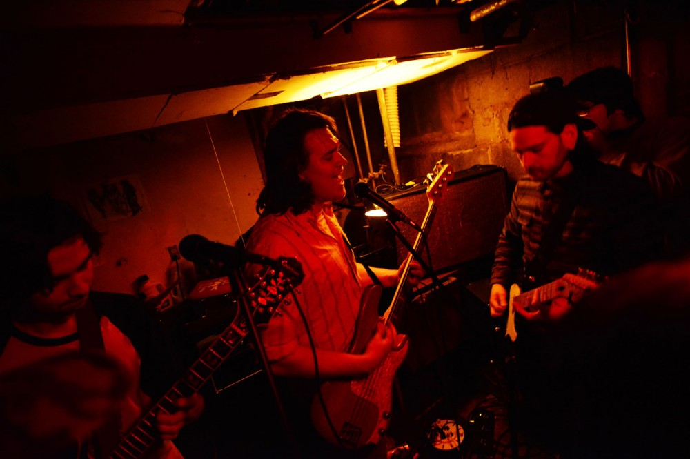 Local band Sleepyhead performs in the basement of a house in Dinkytown.