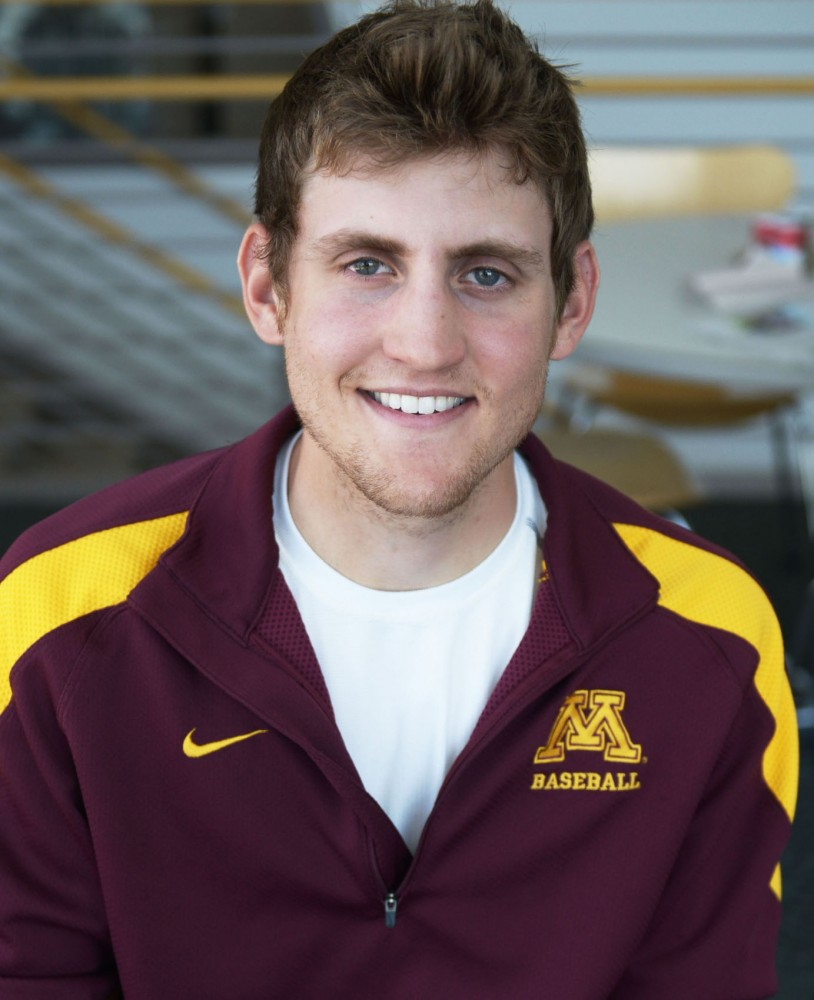 Minnesota outfielder Troy Larson has a 3.95 GPA, one of the highest among the University's student-athletes, and is set to enroll in medical school after the 2013 season.