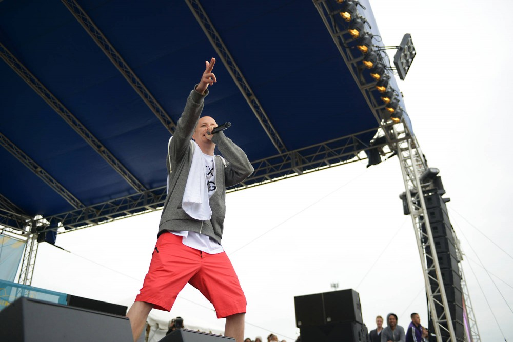 Prof performs live at Soundset on Sunday, May 26, 2013, at Canterbury Park.