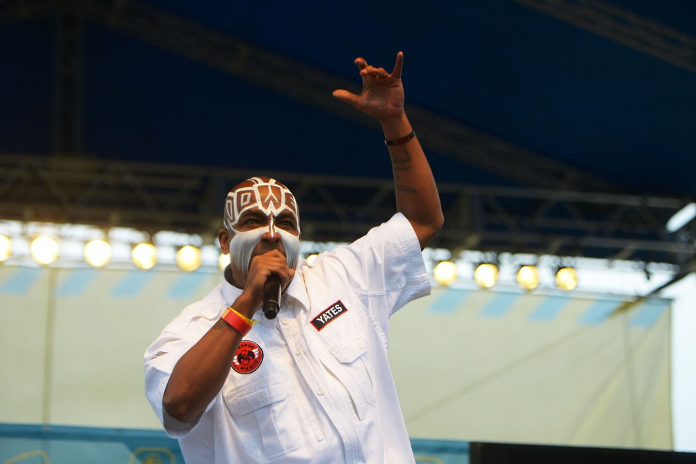 TECH N9NE performs live at Soundset on Sunday, May 26, 2013, at Canterbury Park.