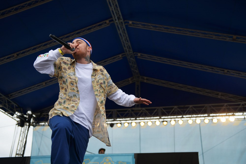 Mac Miller performs live at Soundset on Sunday, May 26, 2013, at Canterbury Park.