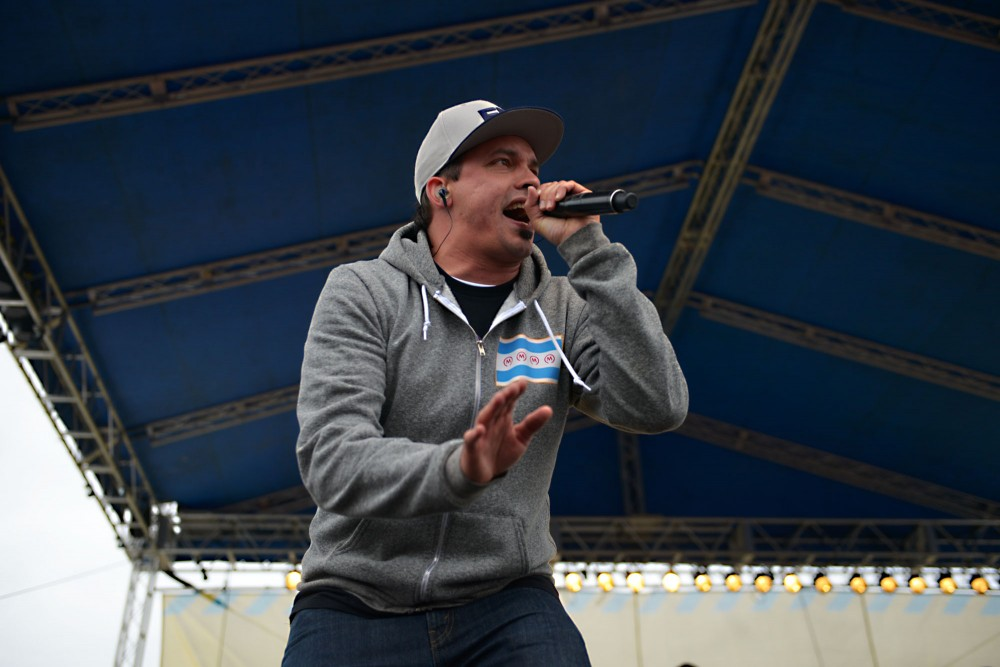 Slug of Atmosphere performs live at Soundset on Sunday, May 26, 2013, at Canterbury Park.