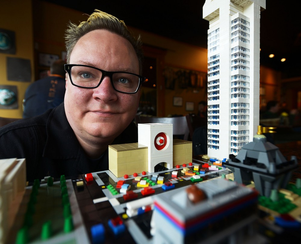 University of Minnesota philosophy professor Roy Cook is currently a Lego ambassador and member of TwinLUG, a group of adult LEGO enthusiasts. Members of the group including Cook designed and use Micropolis, featured above, which allows individual builders to build modules and connect them to create a micro scale city.