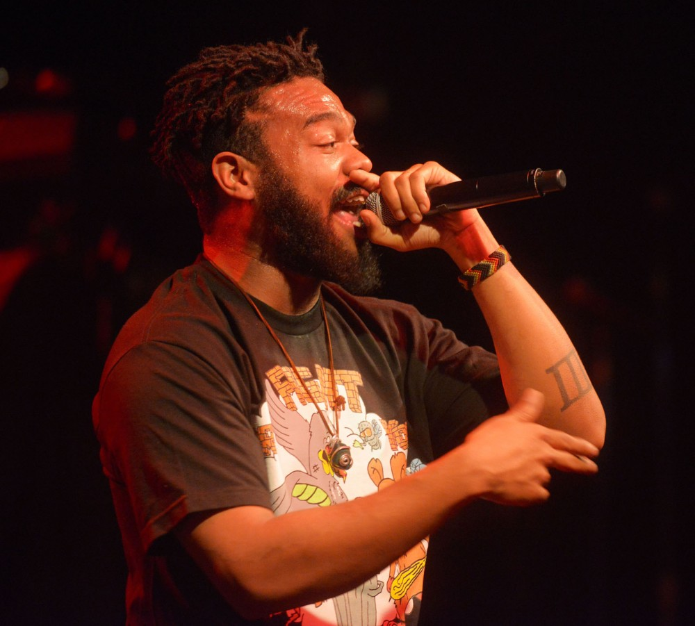 Local hip-hop artist Greg Grease preforms at First Avenue on Friday, June 14, 2013.