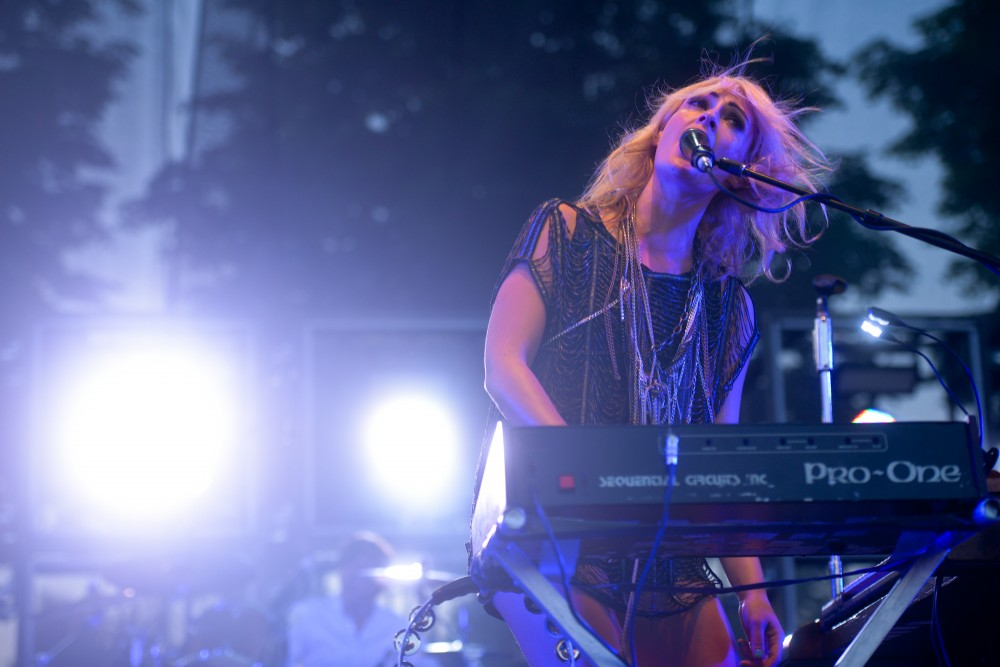 Metric performs live at Rock the Garden on Saturday June 15th, 2013.