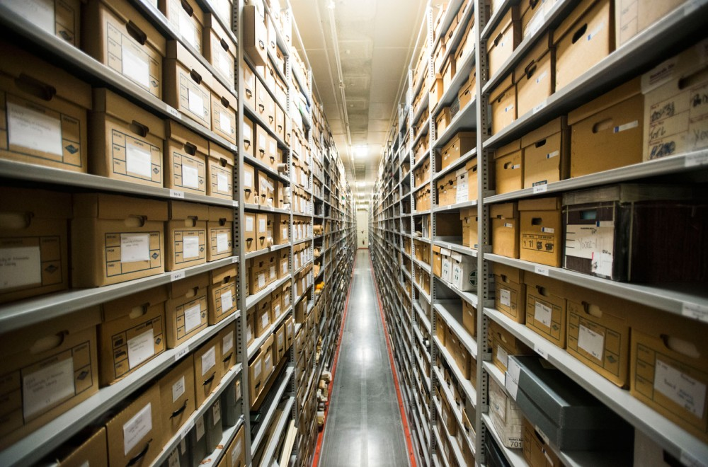 The University of Minnesota Libraries archives hold objects including books, documents and drawings in the climate-controlled