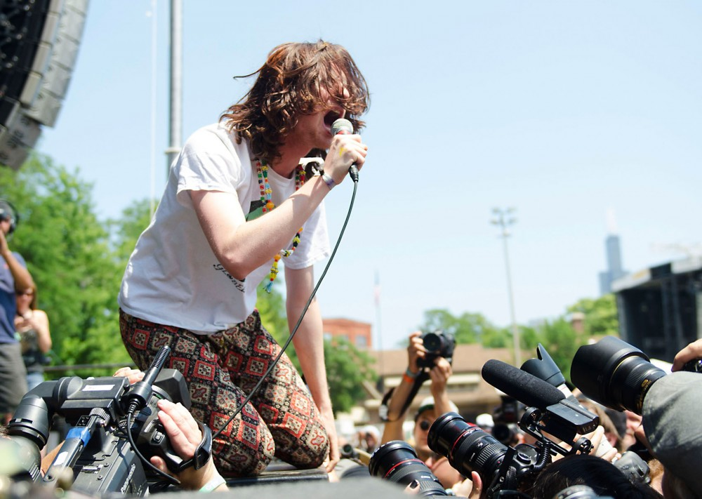 Foxygen performs at Pitchfork Music Festival, Sunday afternoon in Chicago.