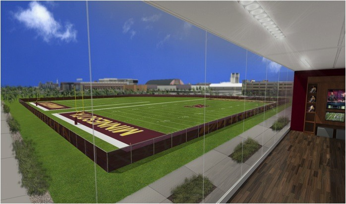 Gopher's athletic director Norwood Teague presented the first phase of the athletics facilities plan to the Board of Regents Wednesday, July 10, 2013. These photos are a conceptual design of the new University's athletic complex.