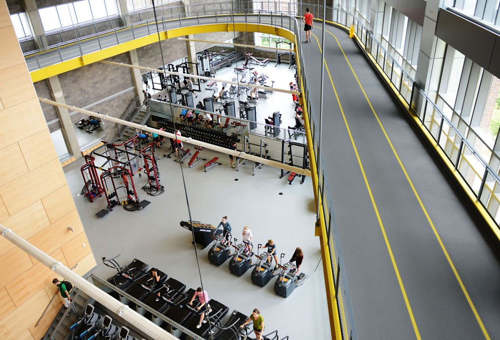 The University's Recreation Center had its grand opening Monday. The new addition featured more weight training and cardio machines, seven multi-purpose rooms, a suspended track and a hydro-massage station.