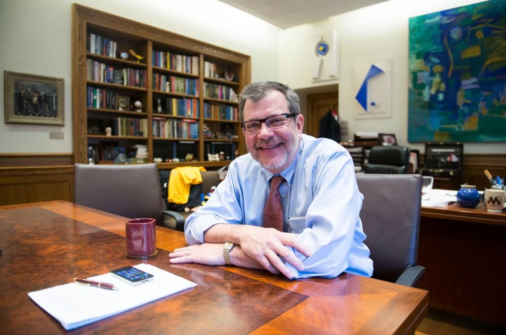University President Eric Kaler at his office in Morrill Hall on Wednesday, Sept. 18, 2013.