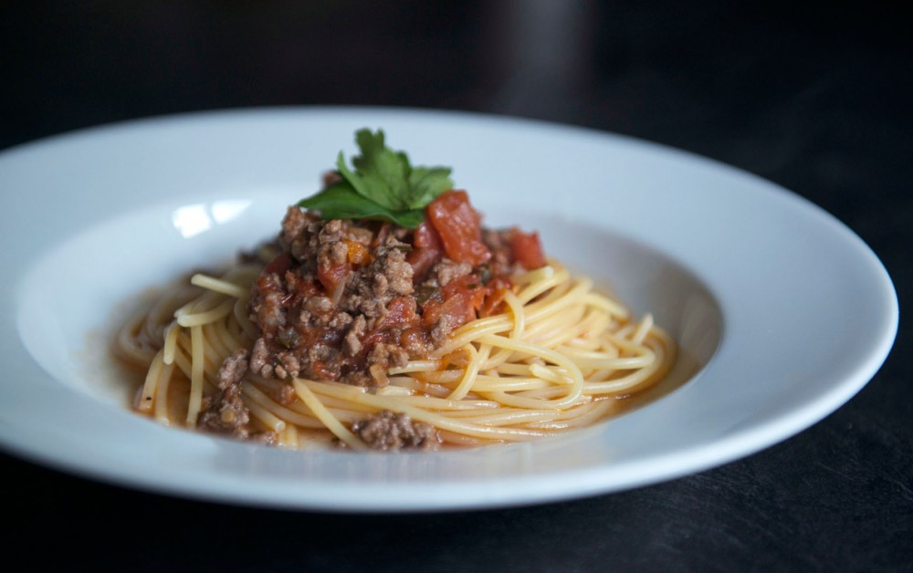 Pasta Bolognese, a quick and simple recipe for any college kitchenista.
