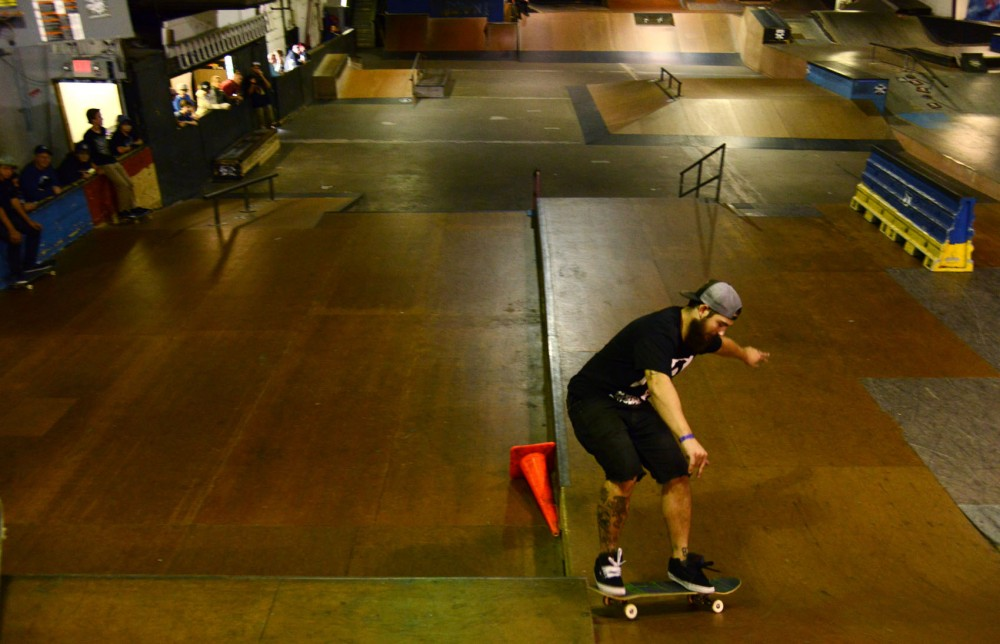 A man turns to do his next trick in 3rd Lair's Midwest Melee competition on Sunday, Sept. 15. The annual competition offers opportunities for skaters of all ages to put their skills to the test.