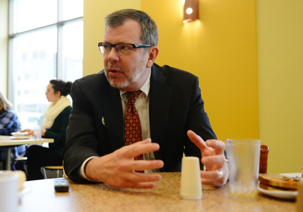 The Minnesota Daily sat down with President Eric Kaler for lunch and an interview at the 17th Avenue residence hall's dining hall, Fresh Food Company, on Tuesday.