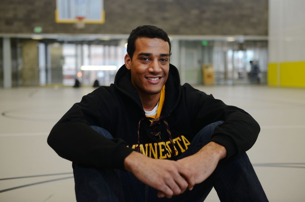 Sport Management senior Jordan Lynn tried out for the Gophers basketball team Oct. 2, 2013. Lynn has practiced with the team but is unsure if he can commit to this season.