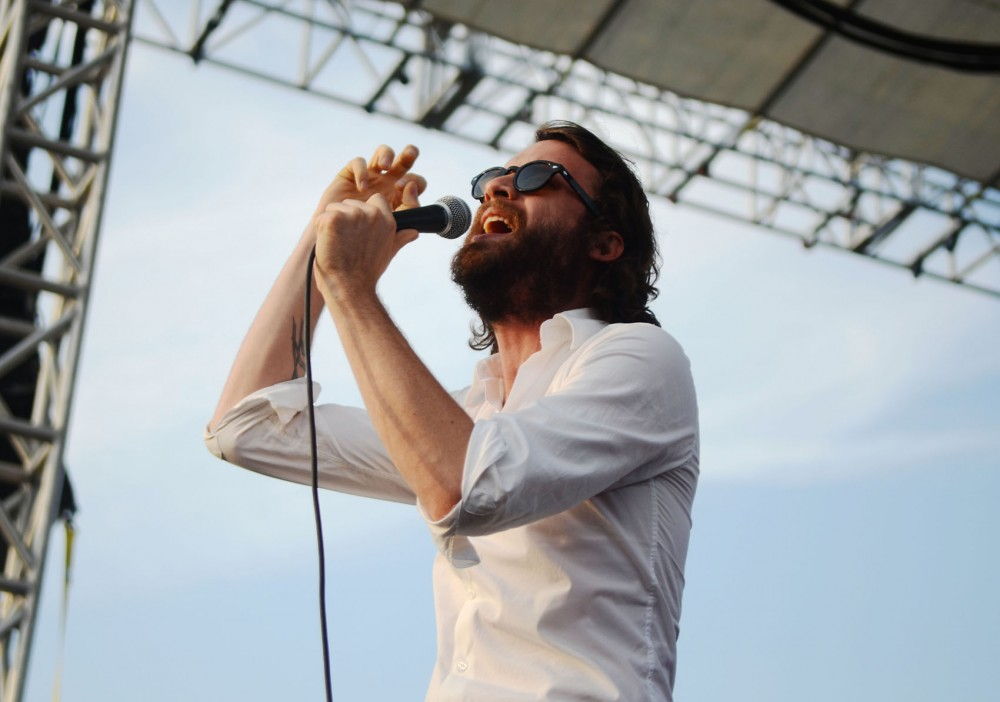 Father John Misty performs at Basilica Block Party on Friday, July 12, 2013.