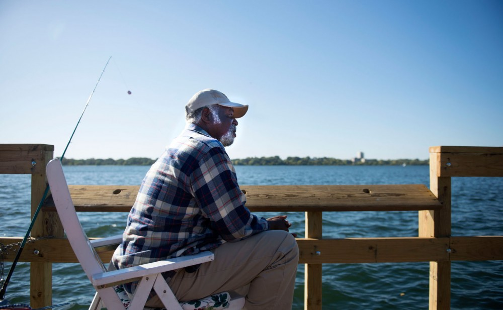 Minneapolis resident Otis Chappell, catch and release fisherman, on Monday at Lake Calhoun.