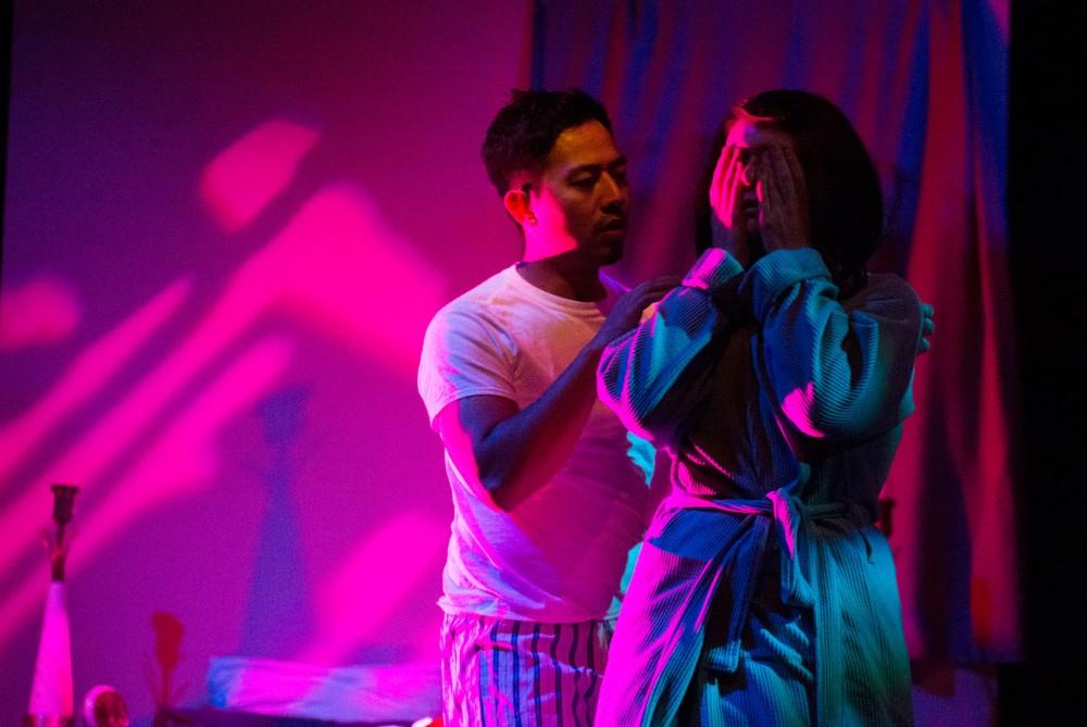 Sherwin Resurreccion and Tessa Flynn rehearse for the premier area production of
