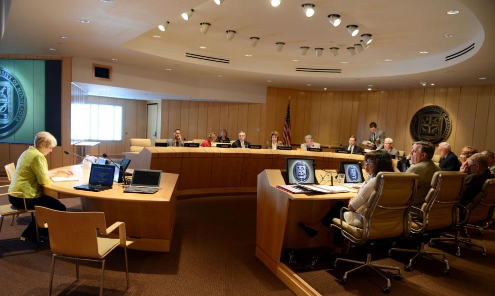 The Board of Regents meet Friday morning at McNamara Alumni Center.