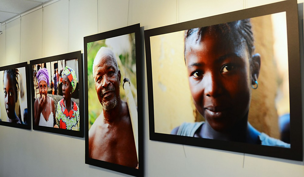 Former University student and faculty member Gary Johnson's gallery of photos taken in the chiefdom of Tikonko in Sierra Leone hang at Boynton Health Service. Johnson is involved with the Rural Health Care Initiative, a nonprofit founded by a Boynton employee that works to improve infant and maternal health care in Tikonko.