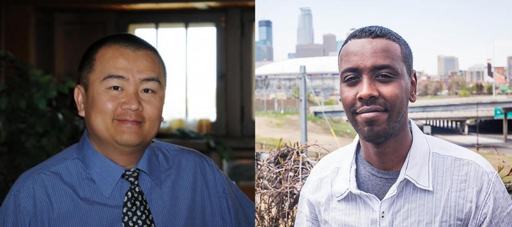 Left Blong Yang, and right Abdi Warsame