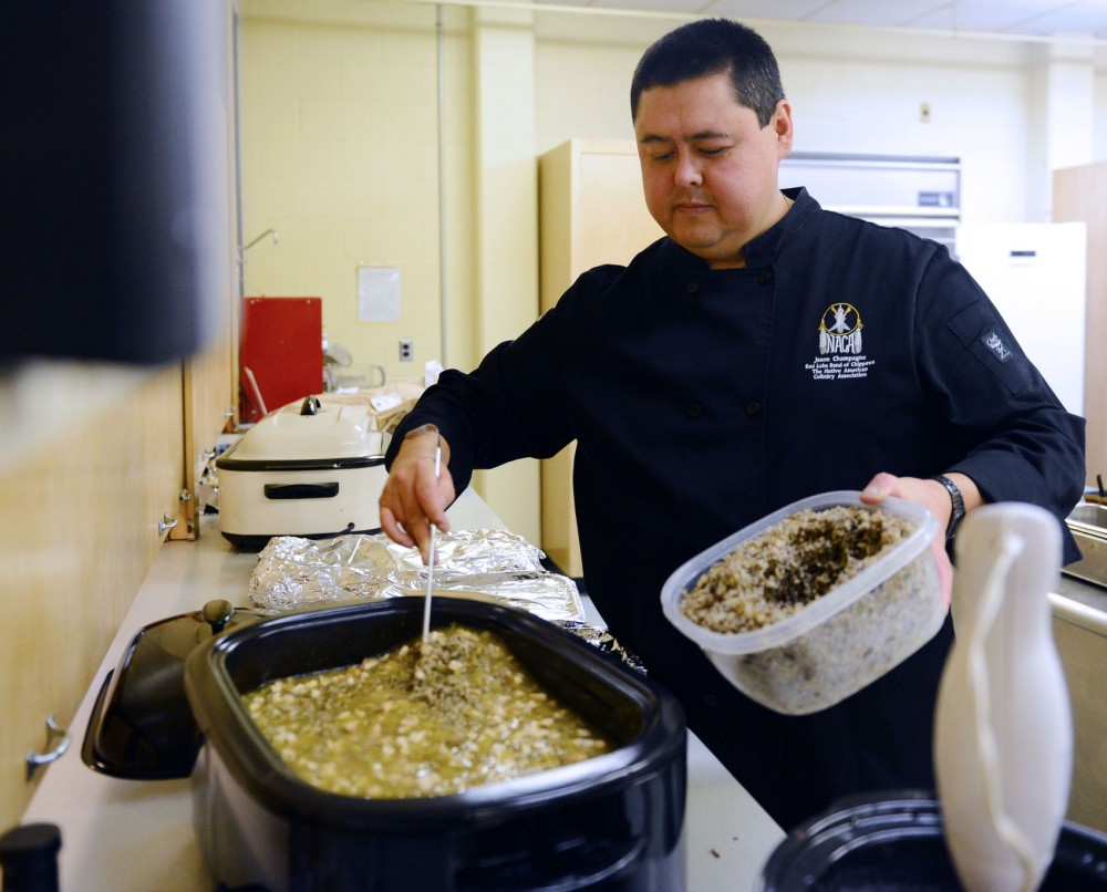 Native Chef owner Jason Champagne adds wild rice to make a chicken & wild rice soup recipe named