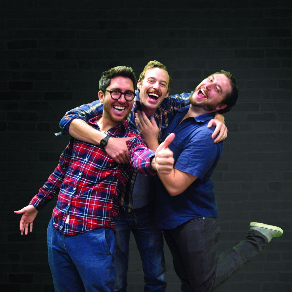Amir Blumenfeld, Jake Hurwitz and Streeter Seidell show each other some love