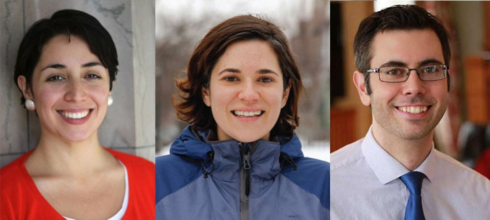 From the left: Alondra Cano, Lisa Bender and Andrew Johnson