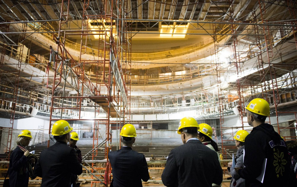The University hosted a media tour of Northrop Memorial Auditorium on Thursday afternoon. After three years of construction, Northrop is scheduled to re-open spring 2014.